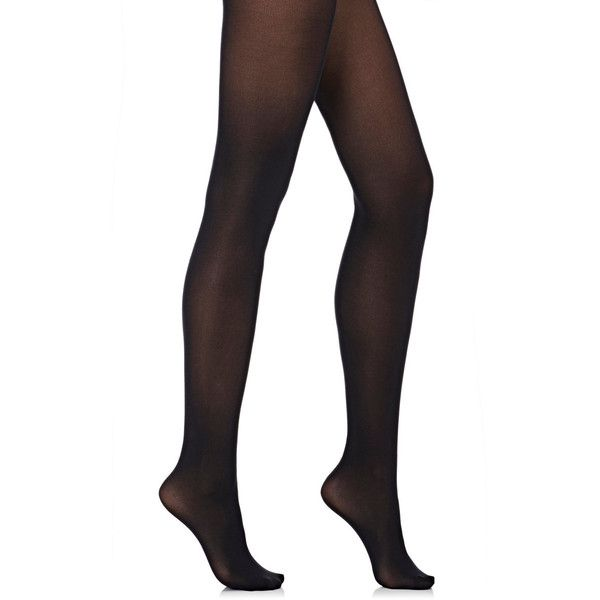 Wolford Women's Velvet De Luxe 50 Tights (£38) ❤ liked on Polyvore featuring intimates, hosiery, tights, socks, bottoms, underwear, black, opaque pantyhose, thick opaque tights and velvet stocking