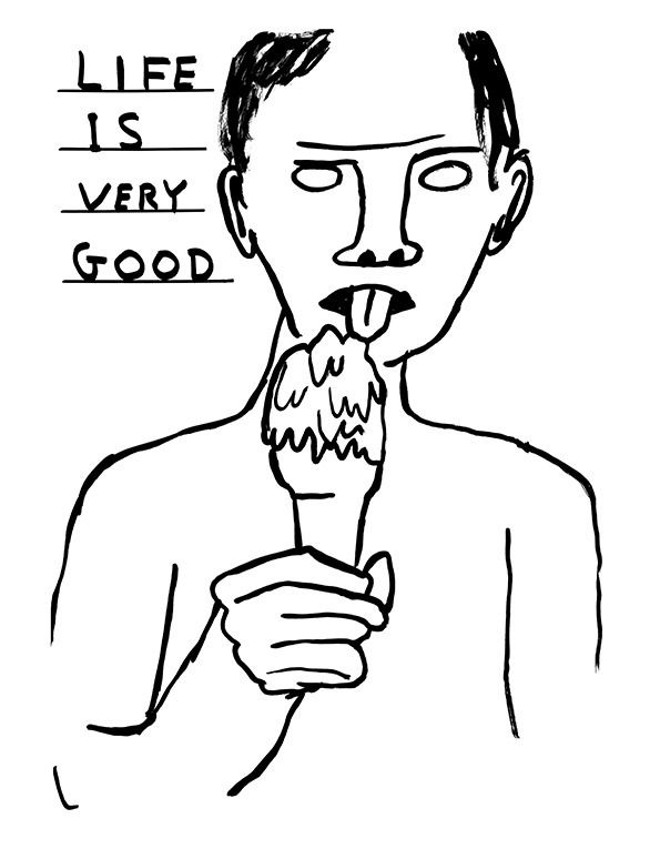 Illustration: Yes! David Shrigley drawings in the new Süddeutsche Zeitung Magazin