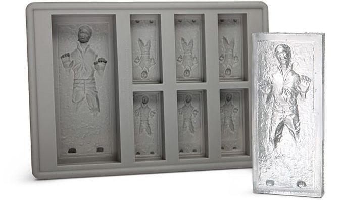 Han Solo In Carbonite Ice Cuybe Tray http://coolpile.com/gear-magazine/han-solo-carbonite-ice-cuybe-tray/ via coolpile.com by @ThinkGeek  #Carbonite #Chocolate #Cool #Gifts #HanSolo #StarWars #ThinkGeek #coolpile