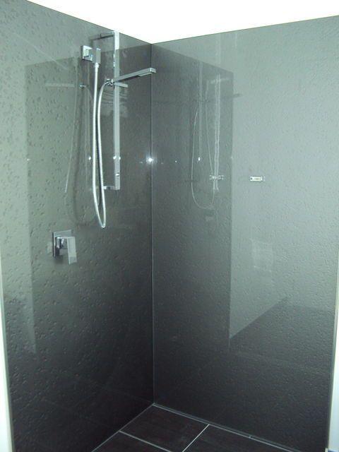 Coloured Glass Splashbacks On Bathroom Wall Instead Of Tiles YES PLEASE