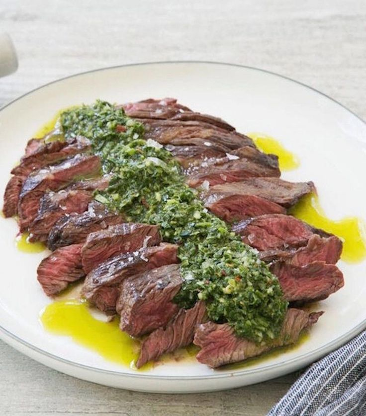 This Grilled Bavette Steak with Chimichurri is simple, yet packed with flavors inspired by Uruguay.