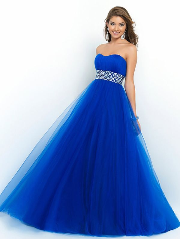 2014 Style A-line Sweetheart Rhinestone Prom Dresses/Evening Dresses #GF843