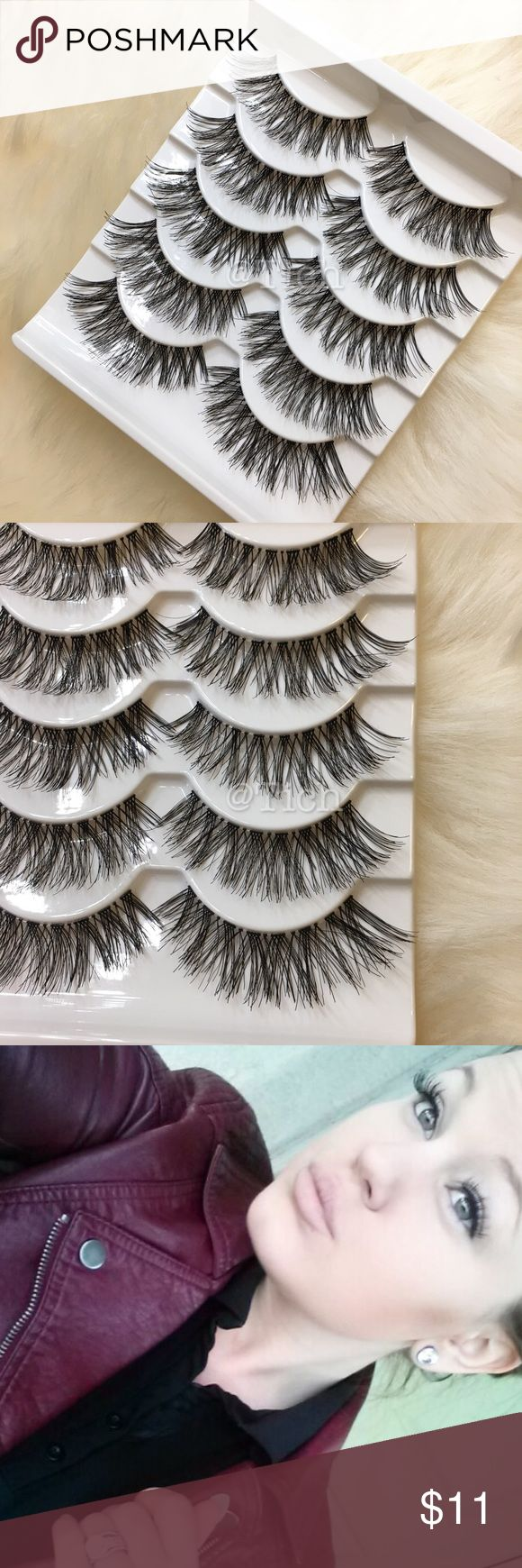 1 Pack Wispies Style Lashes New in box. 5 pairs per pack. Longer than the Demi Style Lashes. Lashes are full and soft. Band is thin and clear for easy application.    Bundle and save!    Any questions please ask!    Wispy Ardell false eyelashes Makeup False Eyelashes