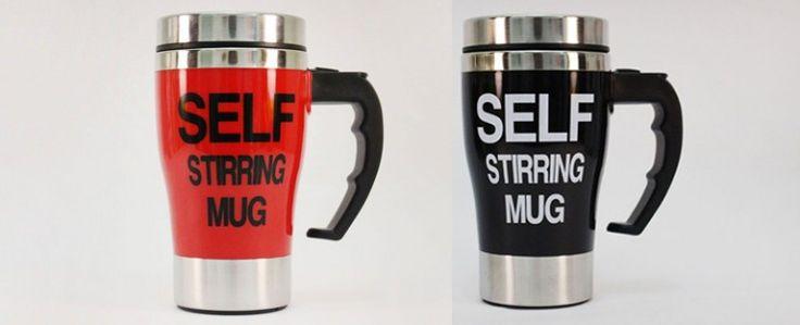 Disaat Anda merasa Malas, Self Stirring Mug membuat segalanya mudah karena Anda tahu Gelas ini dapat mengaduk sendiri dengan mudah