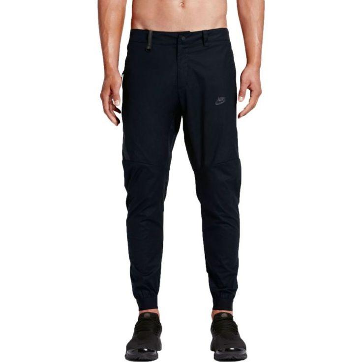 Nike Men's Sportswear Bonded Fleece Jogger Pants, Size: 38, Black