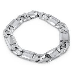 9ct Solid White Gold Bracelet