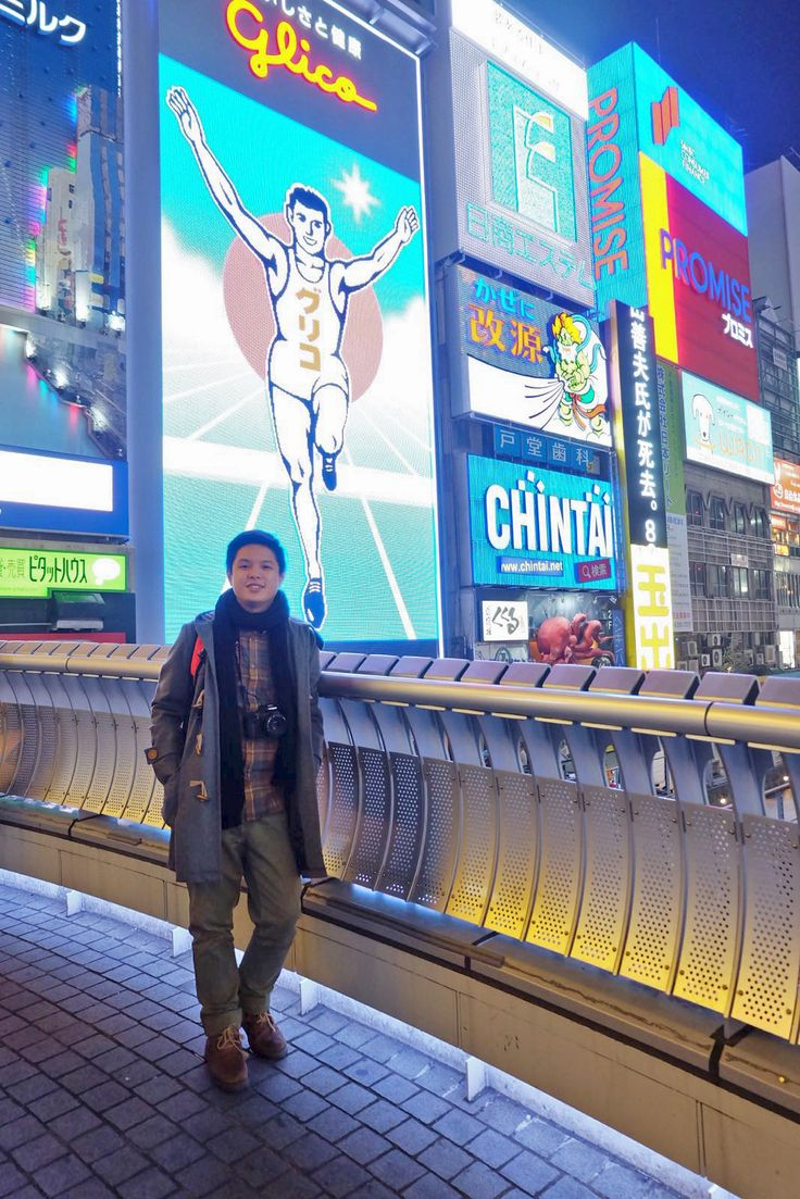 me and the glico man!!