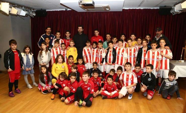 Επίσκεψη αγάπης στην έδρα του Μη Κερδοσκοπικού Οργανισμού Ειδικής Μέριμνας και Προστασίας Μητέρας και Παιδιού «Κιβωτός του Κόσμου» στον Κολωνό πραγματοποίησε η Σχολή Ποδοσφαίρου του Ολυμπιακού-Ακαδημίες Καραταίδη από το Μενίδι www.olympiacos.or...