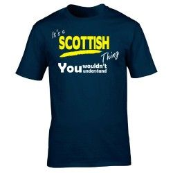 It's A SCOTTISH Thing (5XL – NAVY) NEW PREMIUM LOOSE FIT BAGGY T SHIRT – You Wouldn't Understand – #scotland #scottish #scot #rugby #football #proud #support #country #slogan #funny #novelty #nerd #vintage #retro #top #clothes #ideas for #him #her #unisex #mens #ladies #womens #girl #boy #tshirts #t-shirts #tees