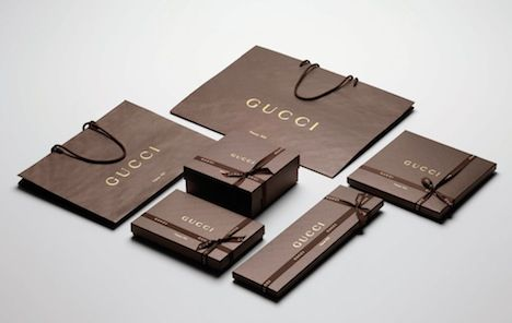 Gucci's newly designed packaging is FSC-certified and recyclable. Image courtesy of Gucci.