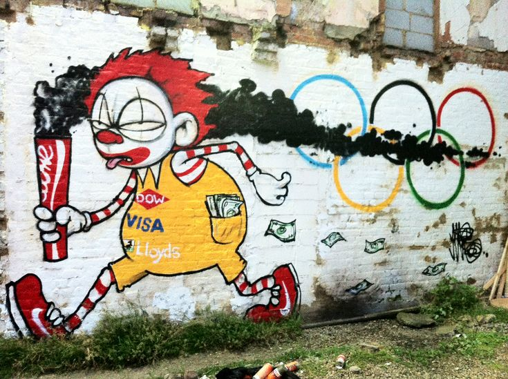 ClownTownOlympics mural