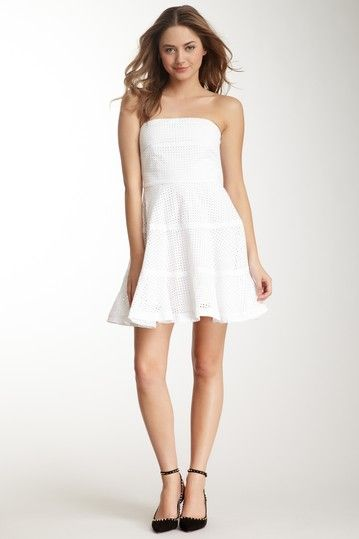 {Strapless Eyelet Dress} See by Chloe - such a sweet dress; gorgeous eyelet!