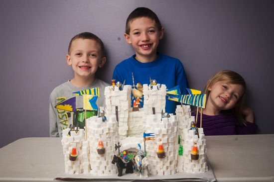 """Crystal shares the sugar cube castle her kids made while studying """"The Middle Ages""""! FANTASTIC job guys! (check out all the pictures!)"""