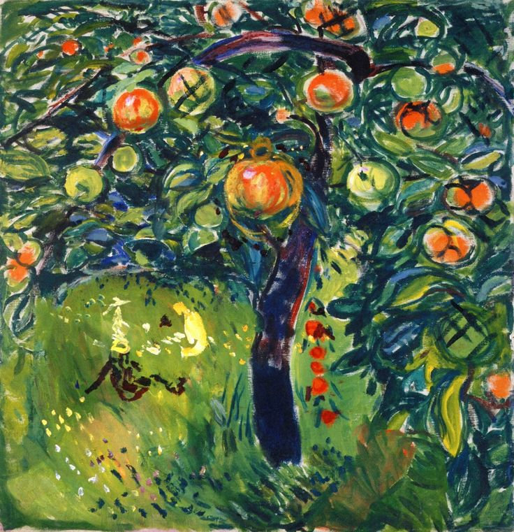 Apple Tree : Edvard Munch
