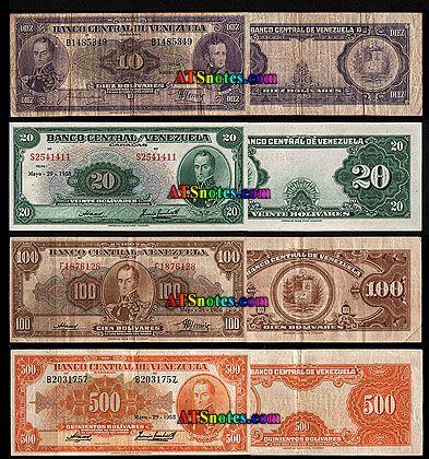 venezuela currency   ... - Venezuela paper money catalog and Venezuelan currency history