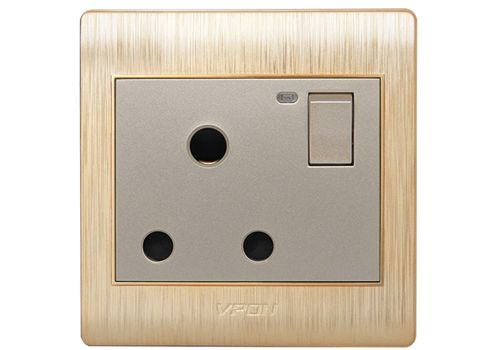 15A power switch socket with LED