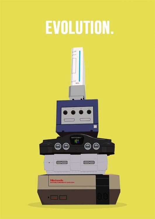 Nintendo evolution, lol: Geeky, Gamer, Nintendo Evolution, Stuff, Nerdy, Videos Games Consoles, Design Bags, Videogames, 30 Years