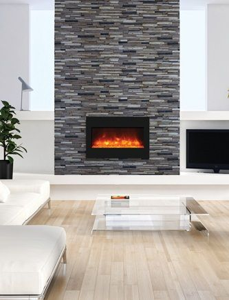 Amantii Zecl 33 3624 Bg Ember Electric Fireplace Insert Living Room Electric Fireplaces