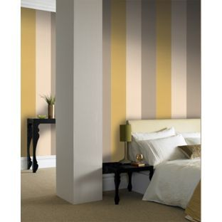 Graham Amp Brown Bold Stripe Wallpaper Mustard From