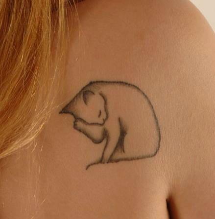 38 Cute Cat Tattoo Examples - Sortra