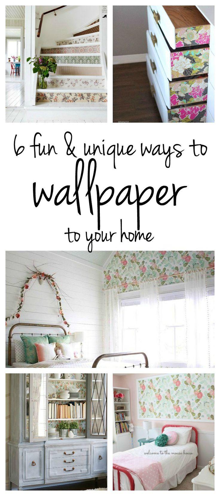 diy wallpaper ideas | wallpaper accent wall | unique wallpaper ideas