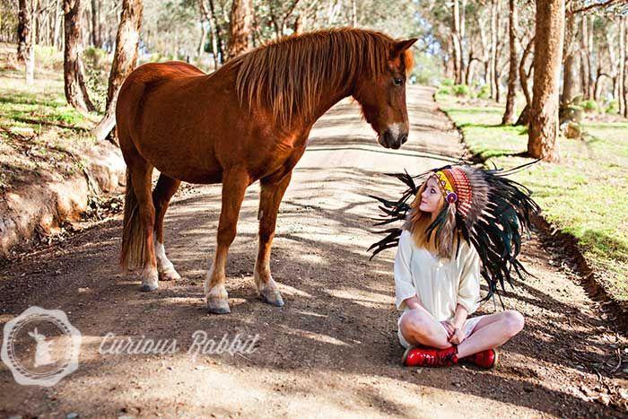 My horse/native American head dress shoot August 2013