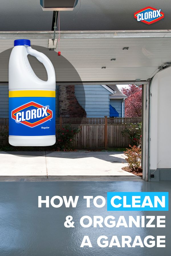 Organize the grime and turn your garage into a serene storage space with these quick and easy tips and tricks from Clorox®. Click to learn more.