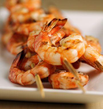 ***Brochettes de crevettes au barbecue - Recettes de cuisine Ôdélices