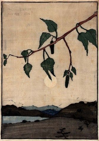 Bror Julius Olsson Nordfeldt, Moonrise, 1906, color woodcut on paper