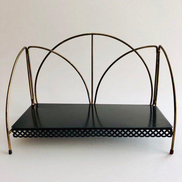 buy online 9c7d6 9d4db MCM Small Metal Bookshelf - Book Rack - Black Shelf with ...