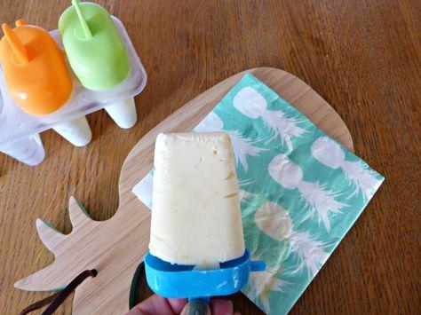 Bâtonnet glacé au citron et au lait concentré sucré (sans sorbetière)