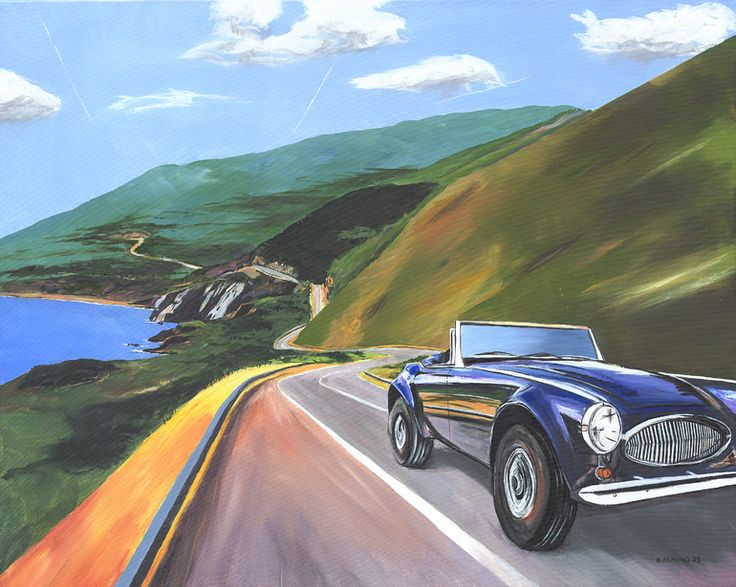 "Saatchi Art Artist: Billy Almond; Acrylic 2005 Painting ""Healey 3000"""