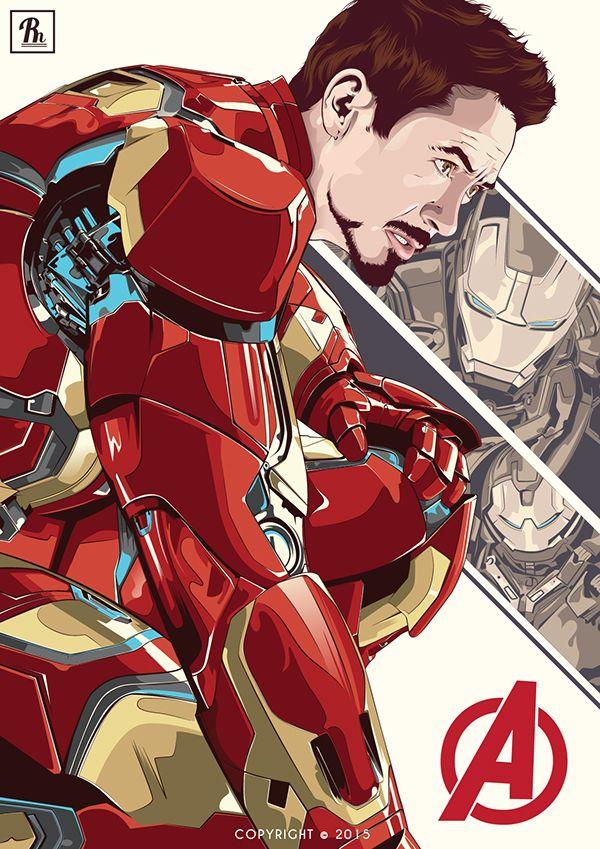 """Robert Downey, Jr. """" Iron Man """" on Behance"""