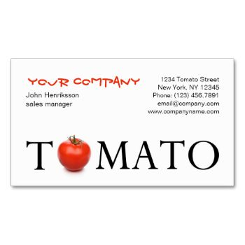 """This conceptual image, showing a tomato used as the letter """"o"""" in the word 'tomato', makes a perfect profile card for farmers, farmer markets, an organic grocery store and others working in the agriculture industry. Need help designing? Is something unclear? Feel free to use the contact button in the left menu and I will get back to you shortly! Promotional sticker with this design is available! Promotinal business sticker with tomato by pics4merch"""