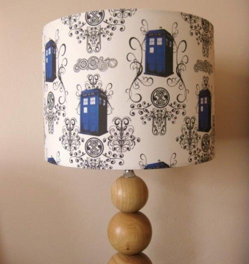 tardis lamp shade for floor lamp - Dr Who Bedroom Ideas