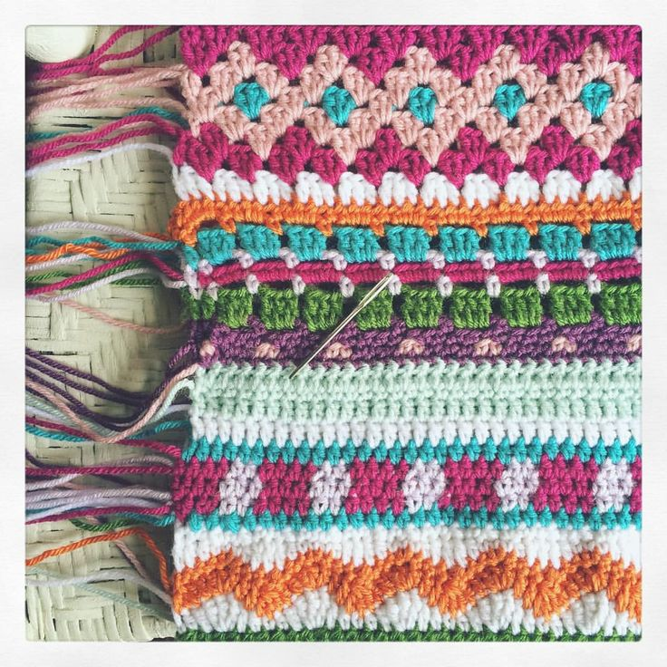 Fair Isle-meets-Aztec-meets-Tribal-meets-Boho-meets-Granny Chic.  I'm only at the halfway point with the blanket, but I must stop to sew in all of those pretty ends. #notyourgrannyscrochet #thefroufroufactory