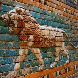 Mosaico de las Puerta de Ishtar (antigua Babilonia) en el Museo de Pergamo #Berlin #Alemania http://berlin.viajandopor.com/museos/museo-de-pergamo.php