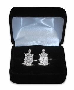 Kappa Alpha Psi Sterling Silver Crest Cufflinks
