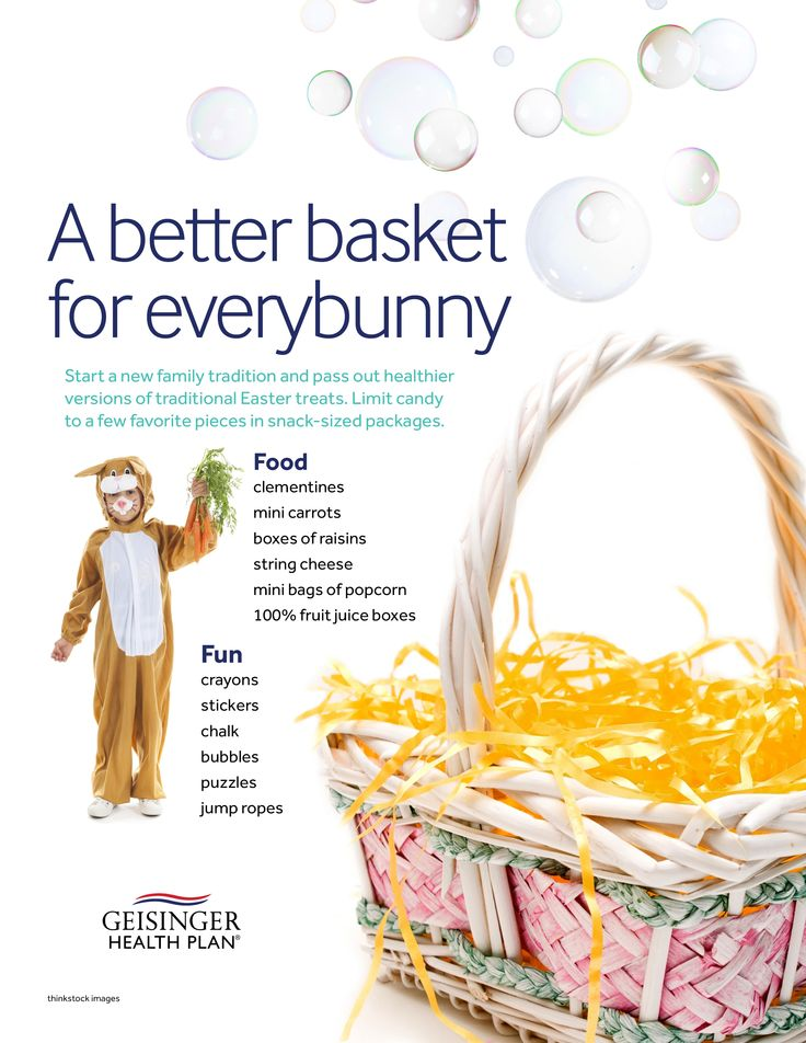 Did you know a typical easter basket can contain up to