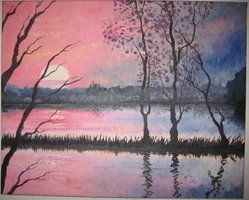 #cloud #clouds #forest #lake #sunset Contact: RomCGallery@gmail.com
