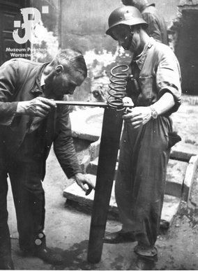 A Molotov cocktail launcher - Huge Collection Of The Warsaw Uprising Photos 18  Best of Web Shrine