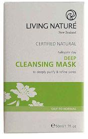 Living Nature Deep Cleansing Mask - voor de gecombineerde en vette huid, speciaal voor de acne huid