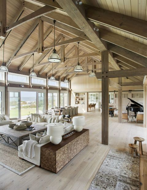 industrial pipe farmhouse trusses ceilings modern farmhouse