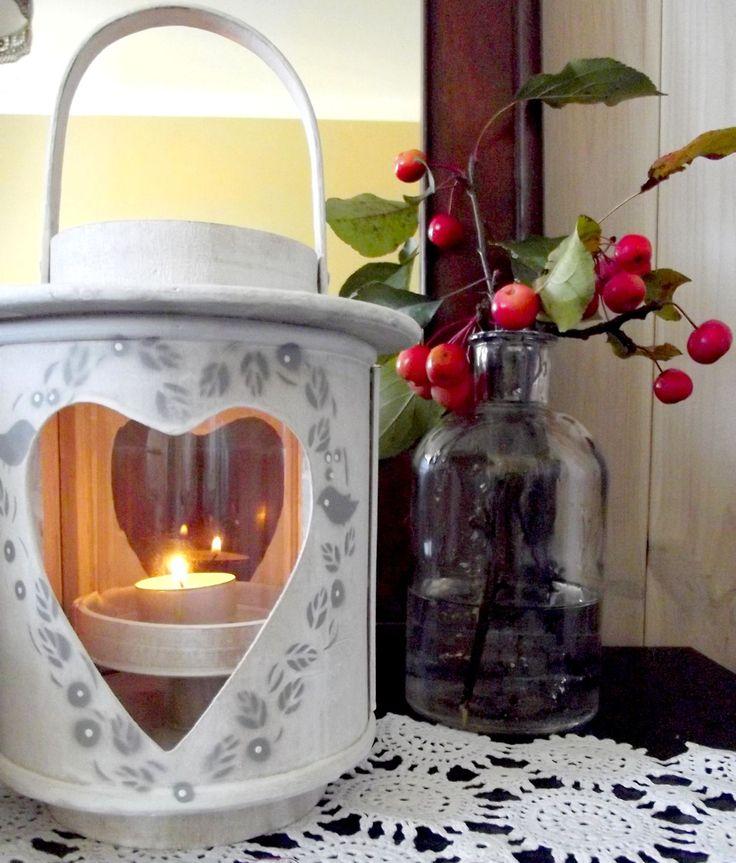 lantern, autumn treasures