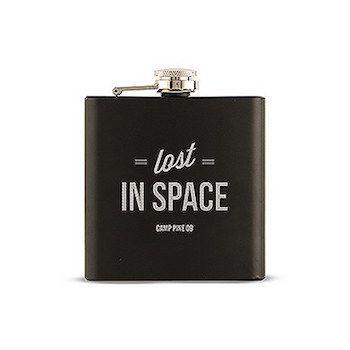 Lost In Space Etched Personalised Hip Flask Gift For Men.   Let's hope no-one in your wedding party gets lost with this Lost In Space Etched Personalised Hip Flask Gift For Men.  A splendid gift for the groom, best man, groomsmen and dads.  9.5cm (L) x 2cm (W) x 10.5cm (H) Coated Stainless Steel Holds 6 oz. (177ml)