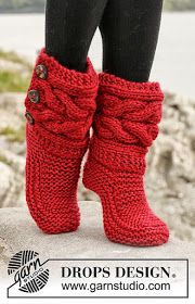 iKNITS: Cable Slippers (KNITTED UGG BOOTS)-VIDEO!!!!