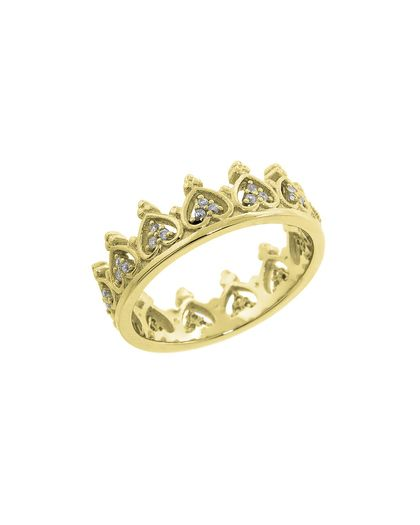 The Gold Pave Elizabeth Crown Ring by JewelMint.com, $29.99 GORGEOUS. A must have for any woman who loves rings