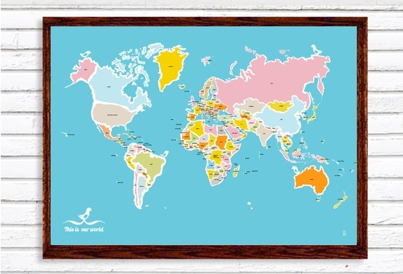 map with birds: Kids Maps, Birds Large, Large Posters, World Maps, Things Maps, Contemporary Cartography, Etsy Lists, Maps Art, Judy Kaufmann