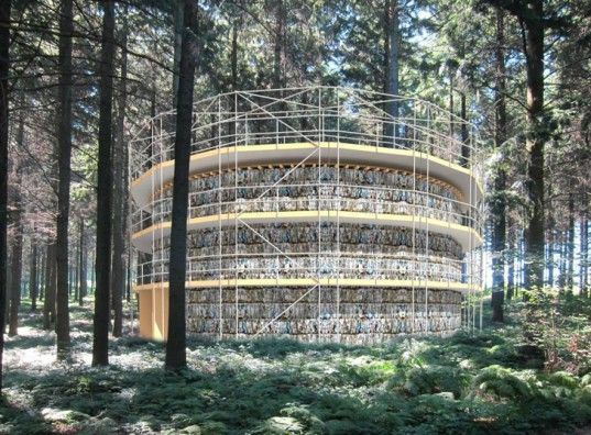 Studio Andrew Todd Unveils Plans for Circular Theater Made from Recycled Paper