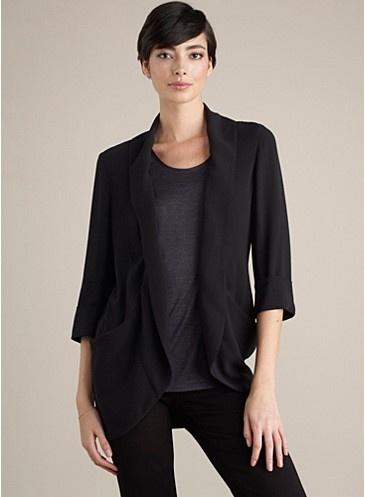 Georgette Crepe blazer for warmer weather